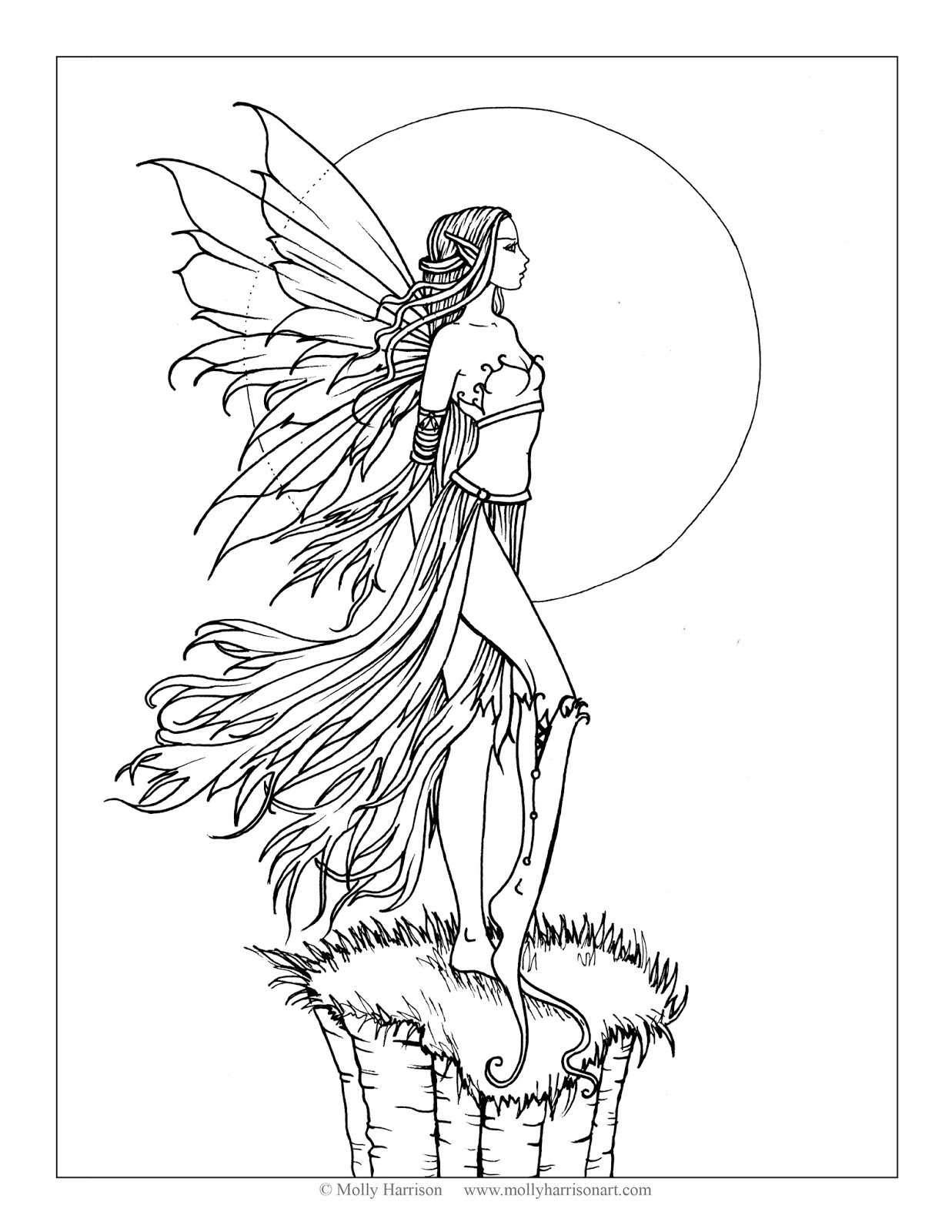 Free Coloring Pages Fairies and Dragons - I Will Always Imagine You ...