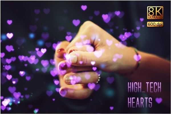 8K High-Tech Hearts Overlays Pack
