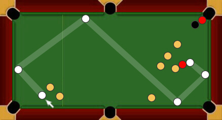 blackball pool rules escaping snookers