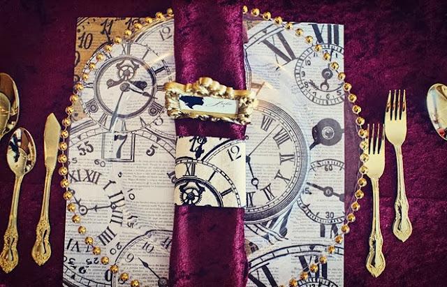 Una Boda Decorada con Relojes.