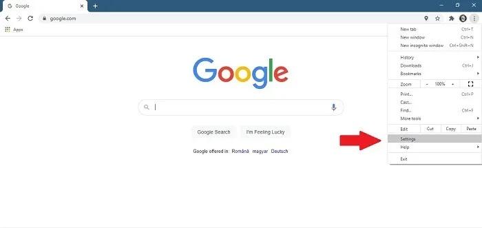 كيفية إيقاف Chrome Notifications Desktop افتح الإعدادات