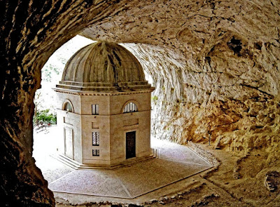 Valadier Temple, Frasassi caves, Italy