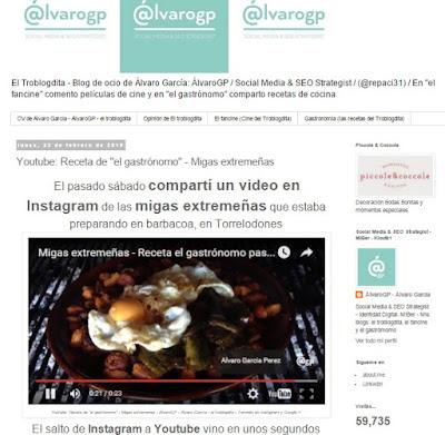 """Youtube: Receta de """"el gastrónomo"""" - Migas extremeñas - ÁlvaroGP - Álvaro García - el troblogdita - También en Instagram y Google+"""