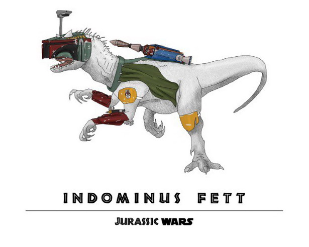Boba Fett + Indominus Rex = Indominus Fett