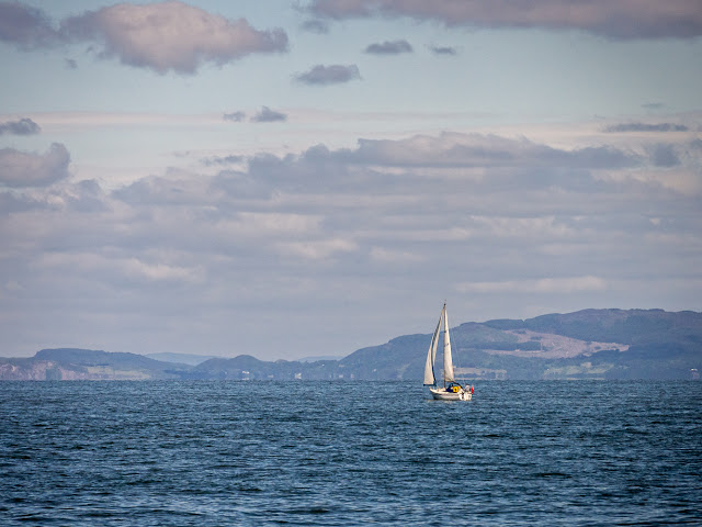 Photo of a yacht on the Solway Firth