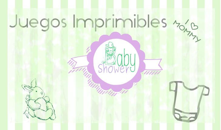 Juegos Imprimibles Para Baby Shower