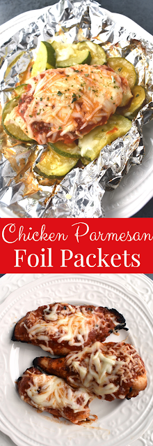 Grilled Chicken Parmesan Foil Packets