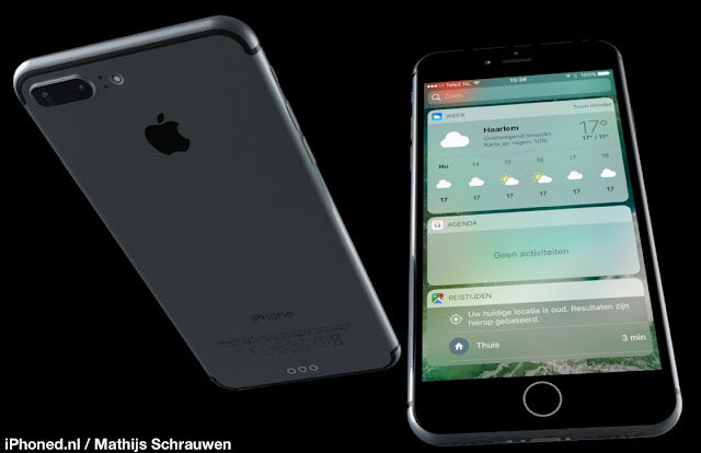 Designer Mathijs Schrauwen has released new concept of iPhone 7 renderings running iOS 10 based on rumoured features and screenshots of iOS 10.