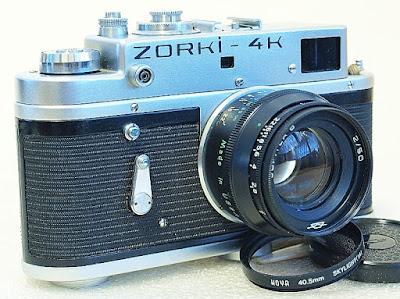 Zorki-4K, Jupiter 8 50mm F2, Left view
