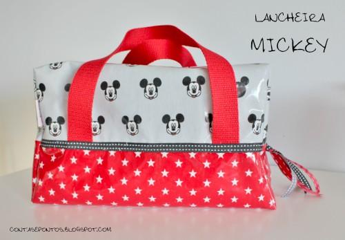 Lancheira térmica em tecido plastificado - Mickey