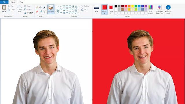Cara Mengganti Background Foto dengan Paint