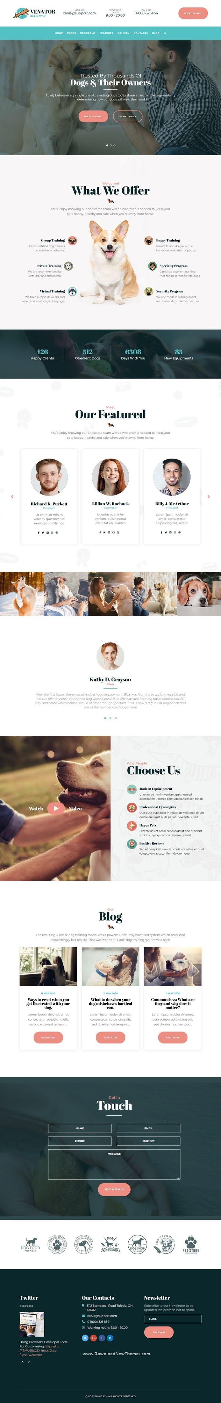 Dog Behavior and Obedience Training Joomla Template
