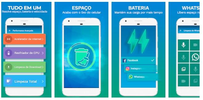 imagens de aplicativo de limpeza