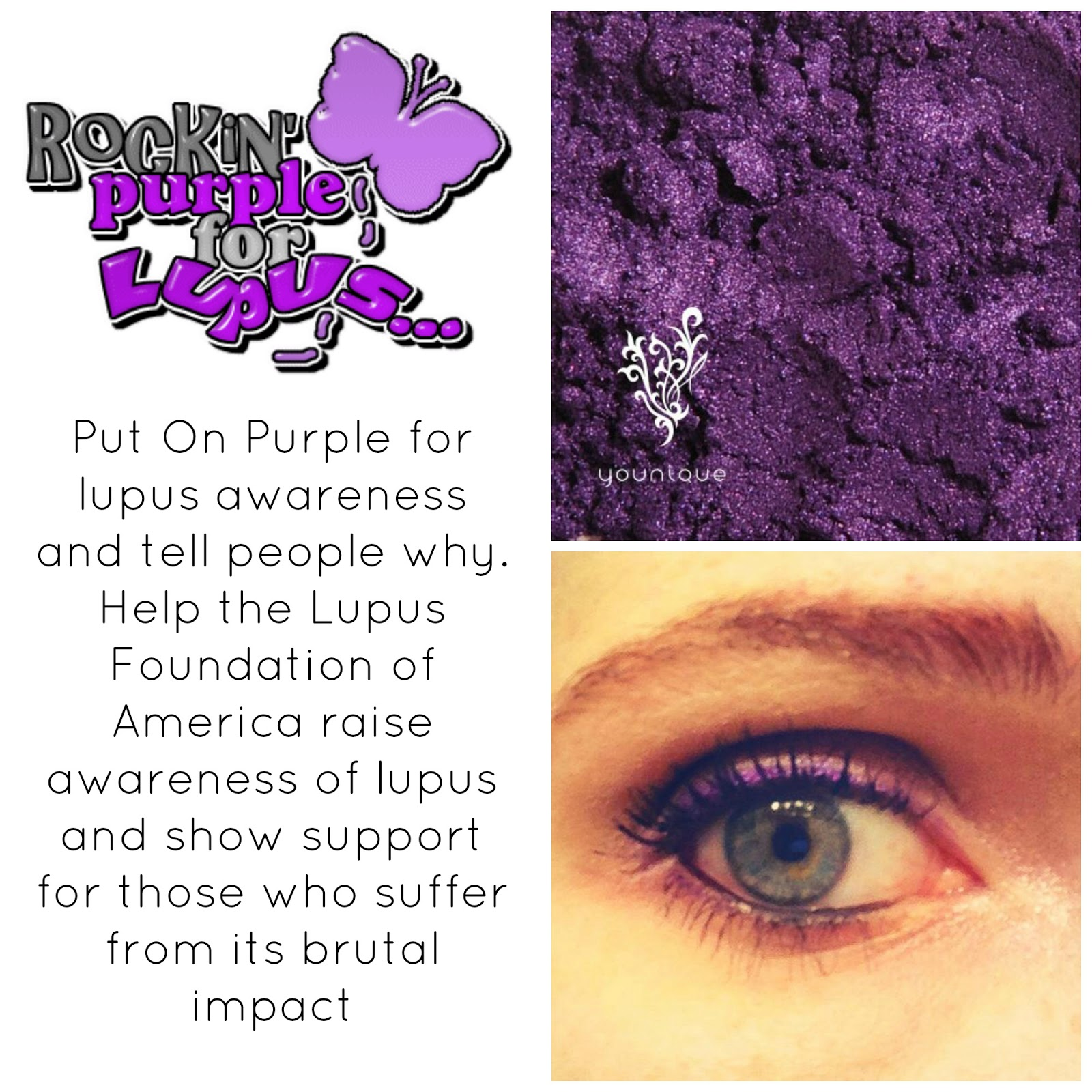 Rockin Purple For Lupus Younique Products By Lauralee