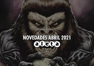 Novedades comic de ALETA para abril 2021.
