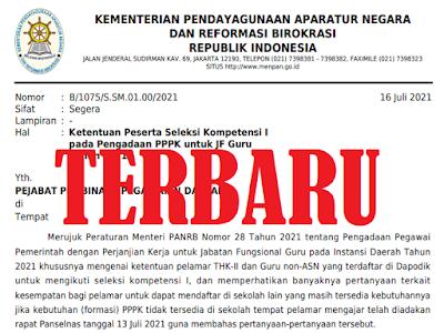 TERBARU! Ketentuan Seleksi I Peserta PPPK Untuk JF Tahun 2021