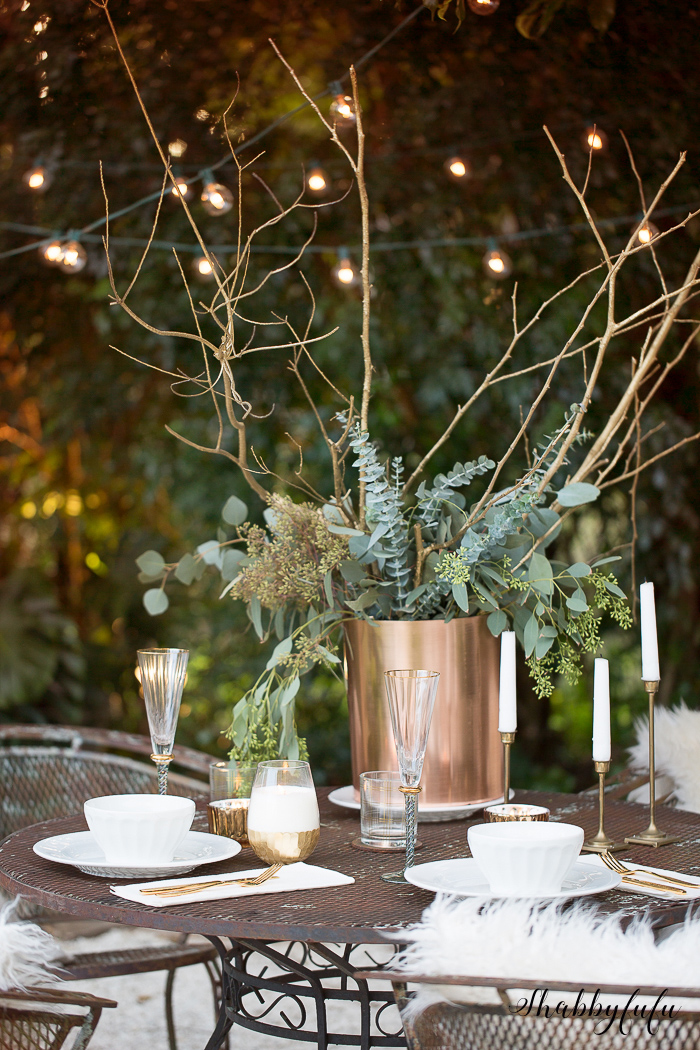 white outdoor tablesetting cafe