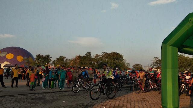 Sinergitas TNI - Polri Bersama Pemerintah Ikuti Muba Sport Day