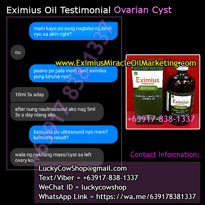 Ovarian Cyst Gone After Taking Eximius Oil