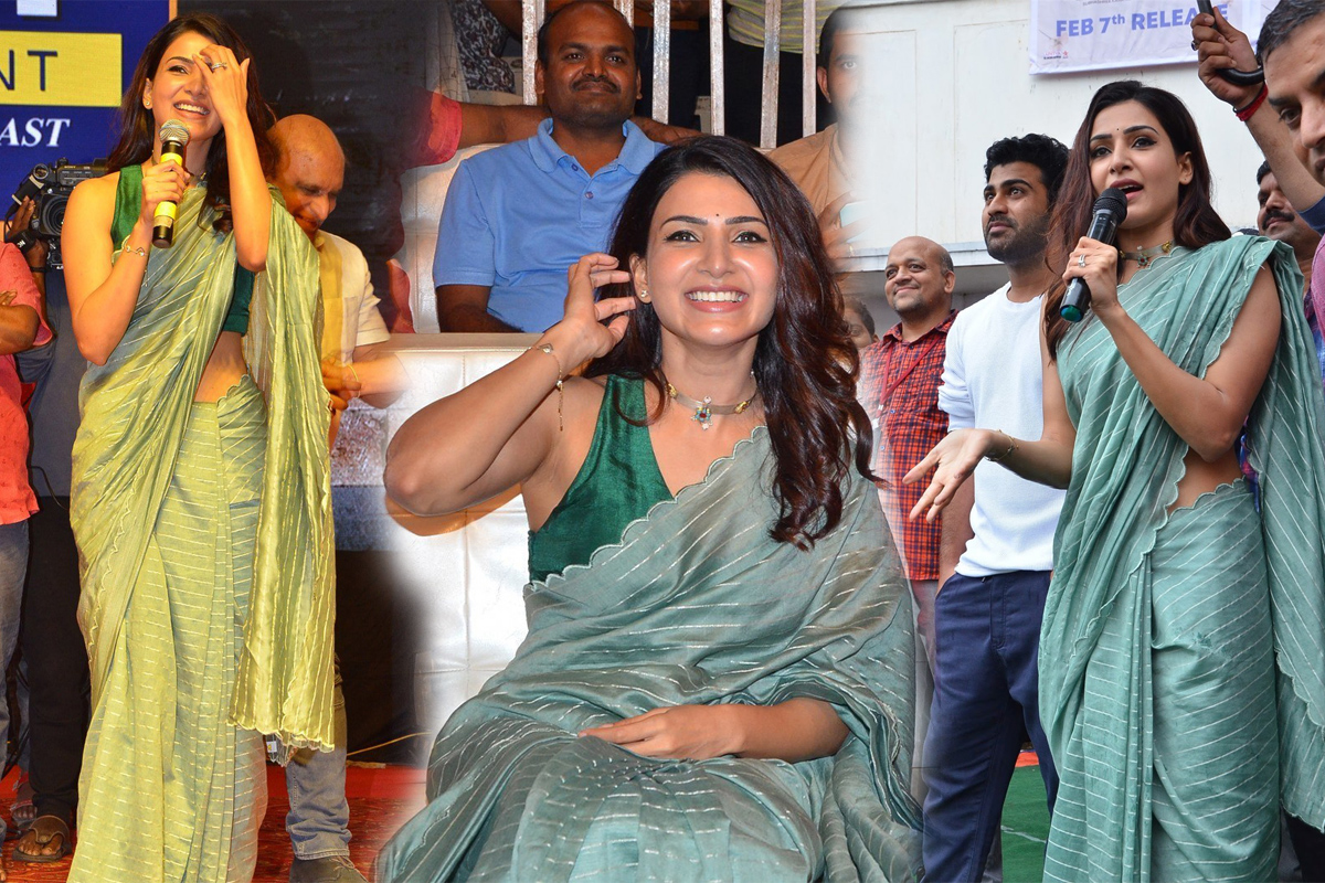 Samantha At Jaanu Movie Promotions Raghu Engineering College Vizag