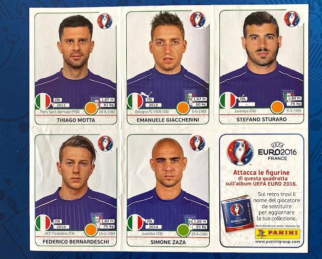 Aggiornamenti figurine Euro 2016 Panini