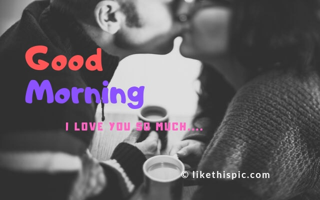 good morning kiss image for lover