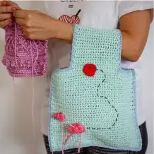 Bolsa para Tejidos a Crochet