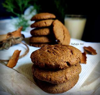 Refined sugar free ragi cookies