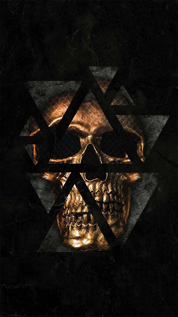 20 Chevron Art Skull, Symbol Star Skull Ultra HD 5K Wallpapers for iPhone and Android