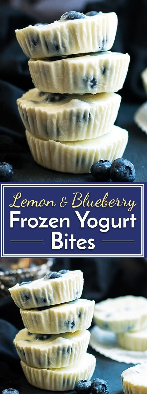 Lemon & Blueberry Frozen Greek Yogurt Bites
