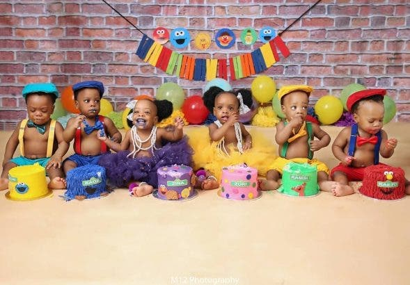 Nigerian Mother Causes Stir With Amazing Photos Of Her Sextuplets #Arewapublisize