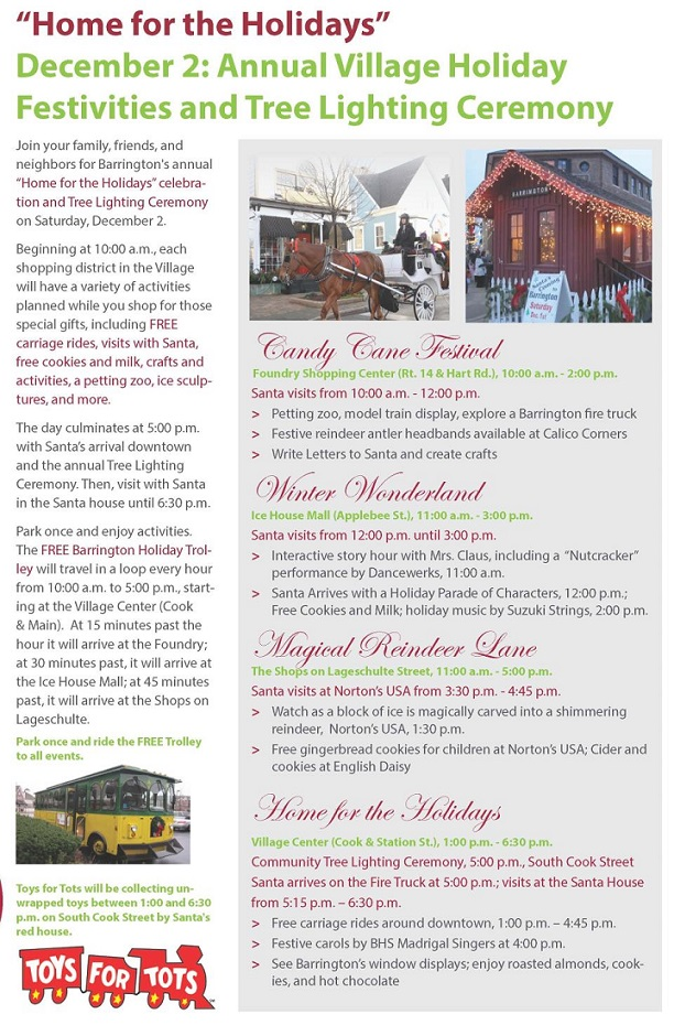 Annual holiday event in Barrington, Illinois December 2, 2017