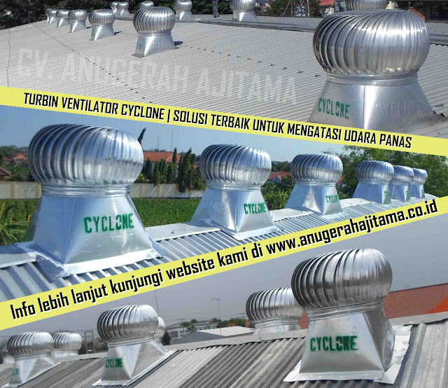 Jasa Pasang Turbin Ventilator Cyclone