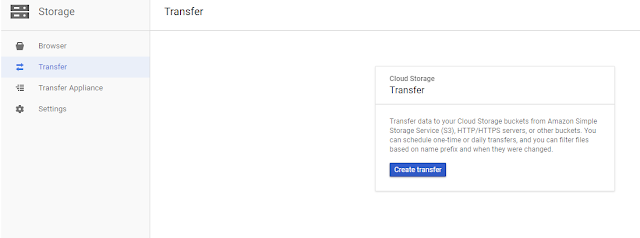 Cloud storage transfer