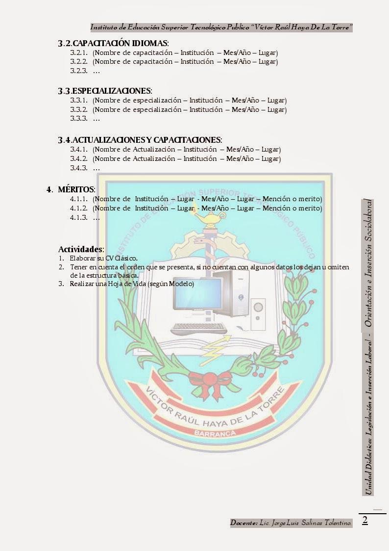 Ejemplo De Curriculum Vitae Lic En Informatica | Resume Pdf Download