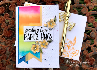 2020, Andrea Sargent, Annual Catalogue, Stampin Up, SU, Art With Heart, AWHT, blog hop, Creative Showcase,  Mini Catalogue, vellum, Blends, Wink of Stella, Forever Blossoms, Sharing Sunshine, Banner Triple punch,, Stitched Rectangles dies