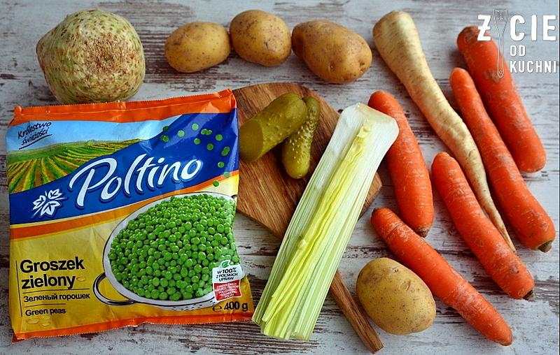 sylwester, karnawal, śledz, salatka jarzynowa, poltino, zielony groszek, zycie od kuchni