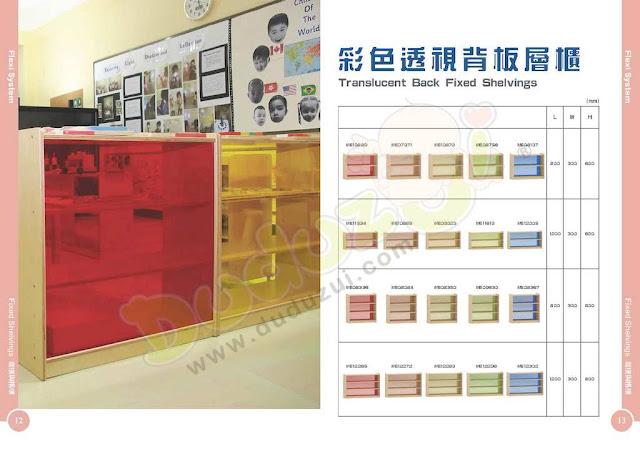masterkidz furniture 彩色透視背板層櫃
