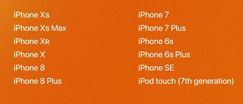 الأجهزة سيصلها تحديث iOS 13