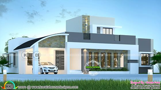2000 sq-ft contemporary single floor house