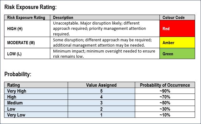 Project Management Risk Assessment, Risk Management Assessment