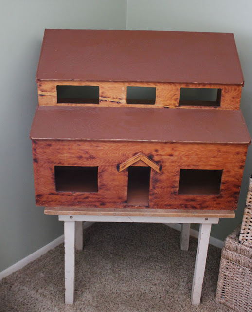 Dollhouse Makeover- Rustic to Farmhouse- Itsy Bits And Pieces