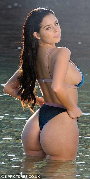 Nude women rear view