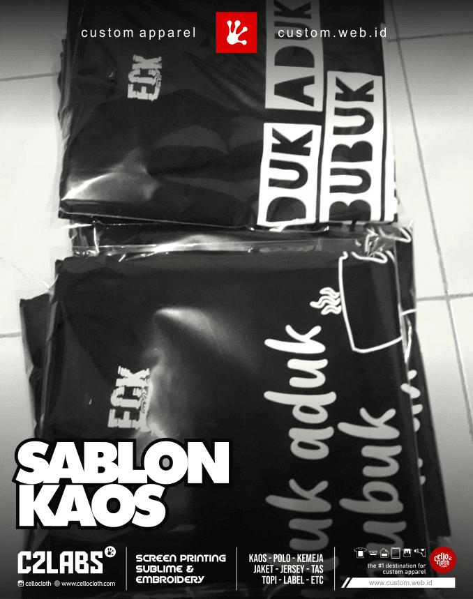 Sablon Kaos Combed 30s Custom Desain - Sablon Kaos Jogja
