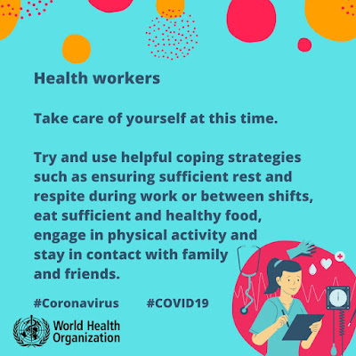Health Workers look after yourselves WHO advice sheet