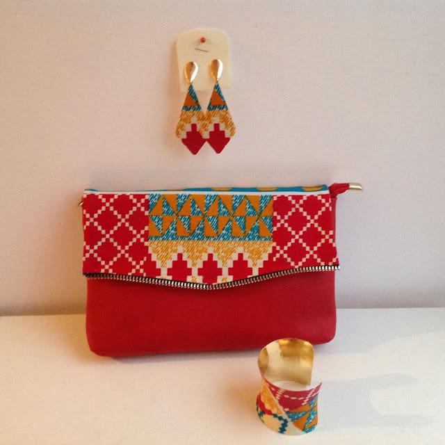 Mode, accessoires, bijoux, ethnique, tendance, wax, collier, noire, boucle, d'oreille, bracelet, LEUKSENEGAL, Dakar, Sénégal, Afrique