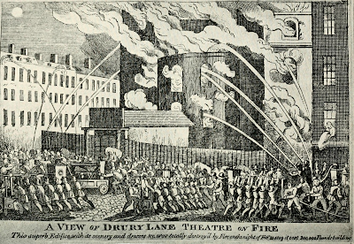 Drury lane Theatre on fire from Shakspere to Sheridan - a book about   the theatre of yesterday and today by A Thaler (1922)