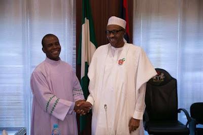 Reno Omokri criticizes Fr. Mbaka for praising President Buhari.