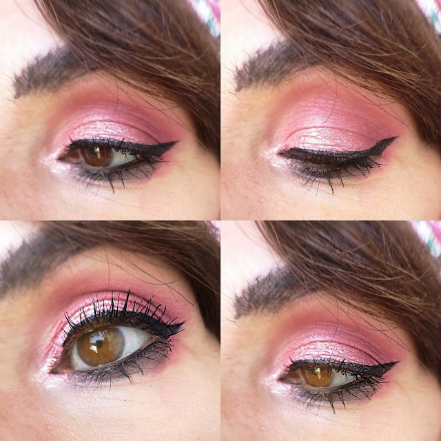detalle de ojo en zoom look rosa