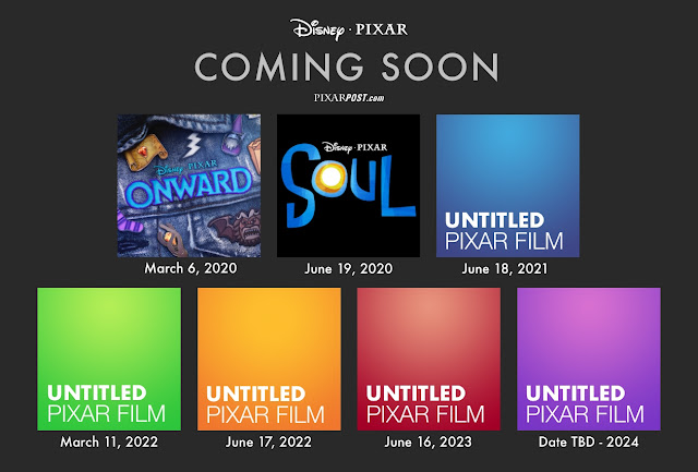 Pixar's next 7 films 2020-2024